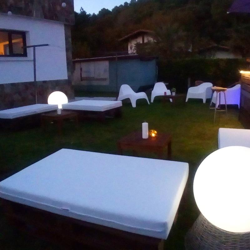Iluminación ambiente para exterior