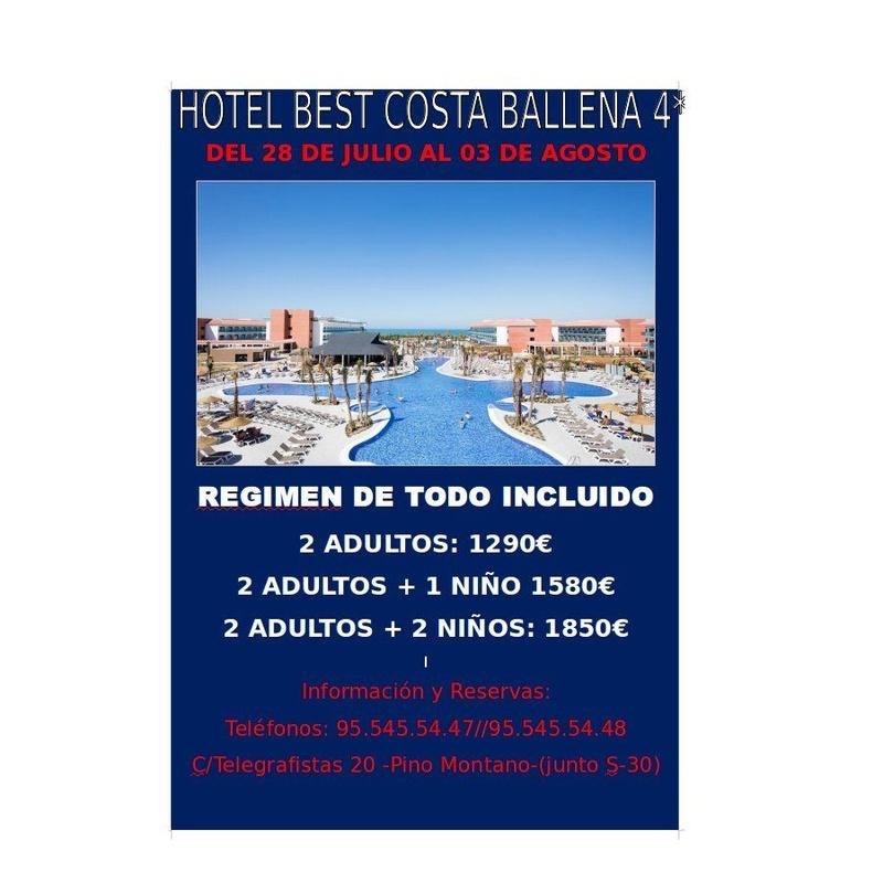 Oferta Hotel Best Costa Ballena 4*: Ofertas de Viajes Global Sur