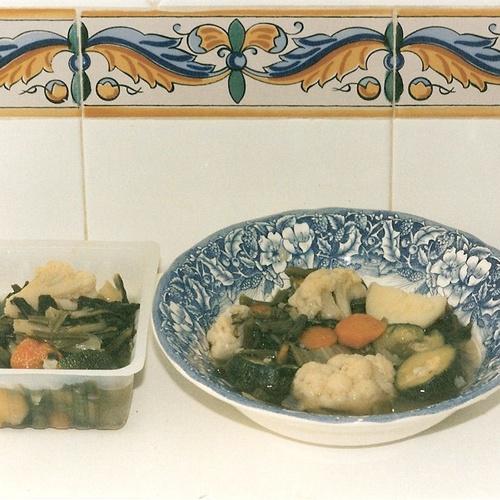 Verduras hervidas.Comidas para llevar La Olla. Murcia
