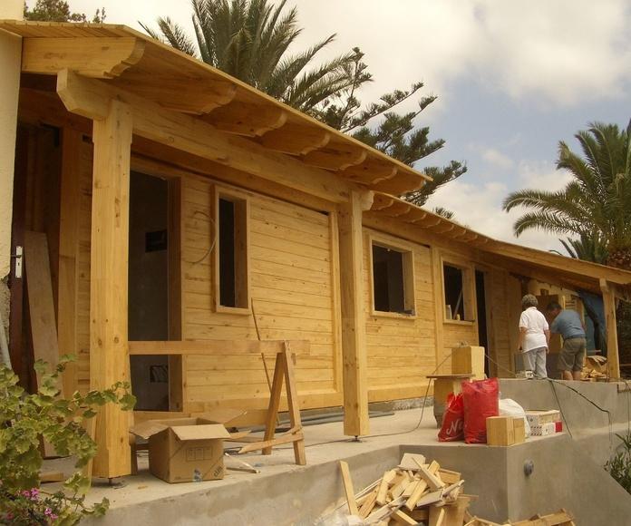 Construcción apartamentos de Madera