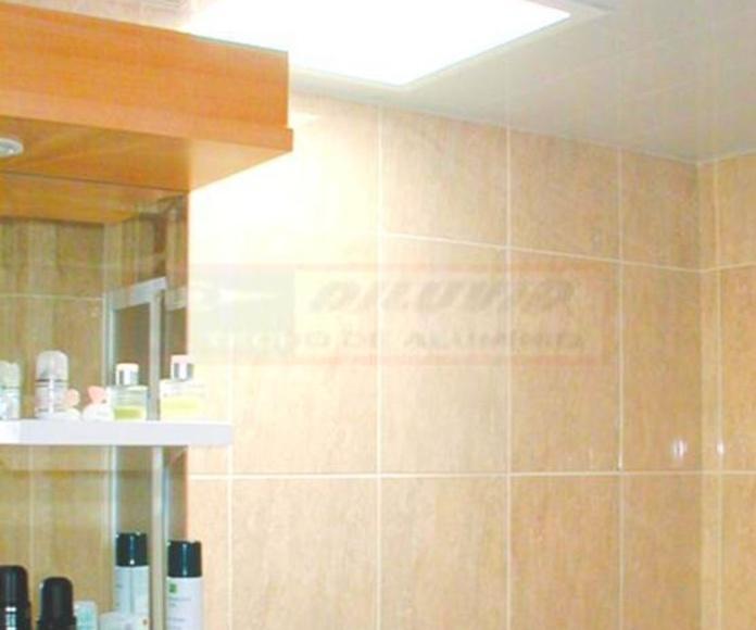 Techo de aluminio Blanco Brillante, baño