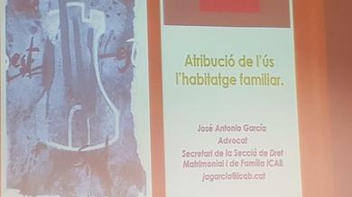 Assistència conferència l'ús de l'habitatge familiar