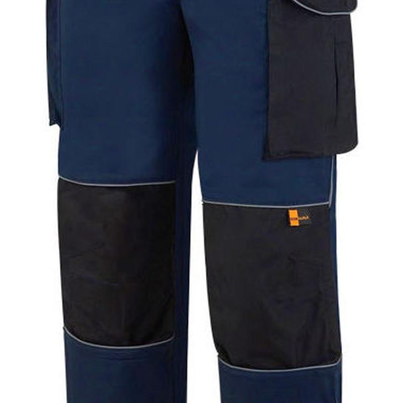 Pantalón tergal de color azul marino/negro.: Catálogo de Frade Ropa de Trabajo