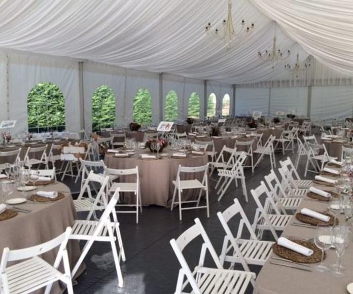 Mobiliario eventos y bodas Cantabria