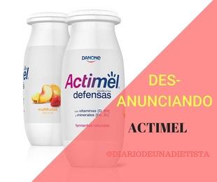 Información nutricional del Actimel