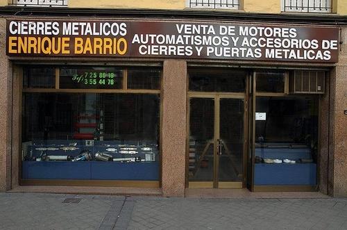 Cierres metálicos Enrique Barrio, en Madrid