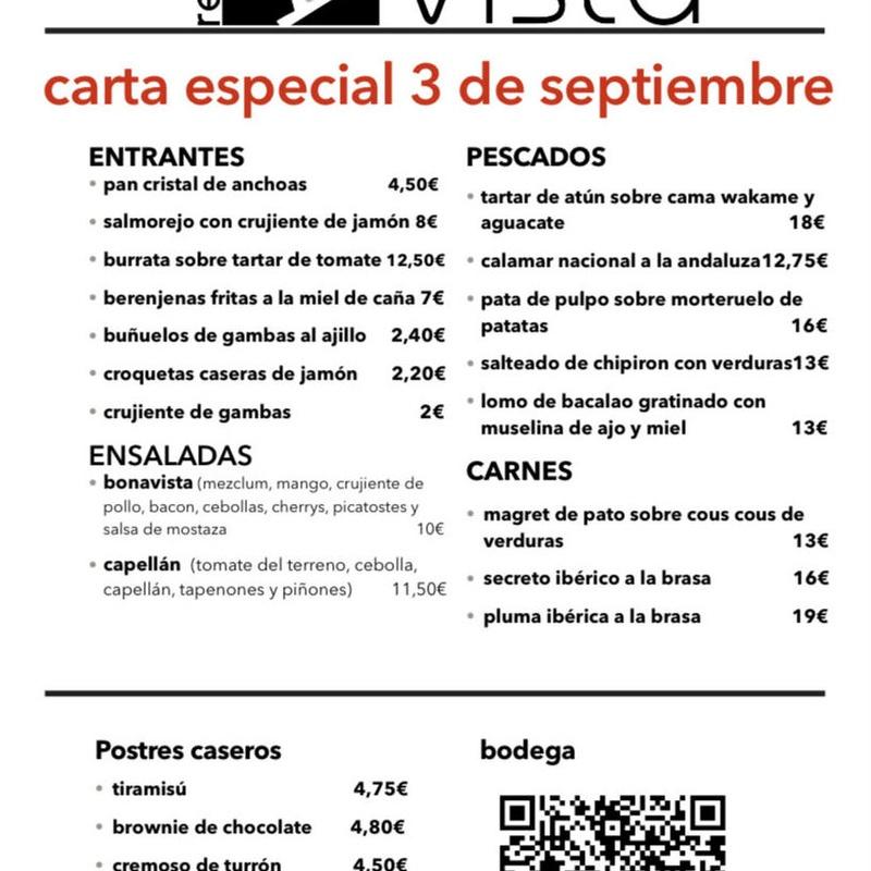 carta especial 31 de octubre haloween: Carta y Menús de Restaurante Bonavista