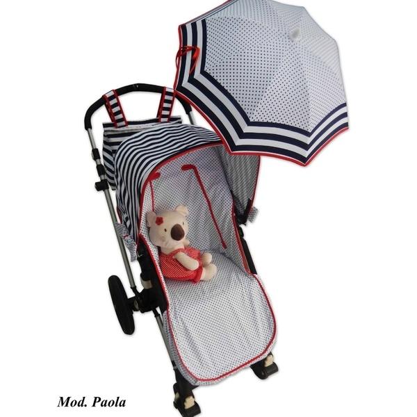 Conjuto de funda de silla, capota, sombrilla y bolso personalizado para Bugaboo