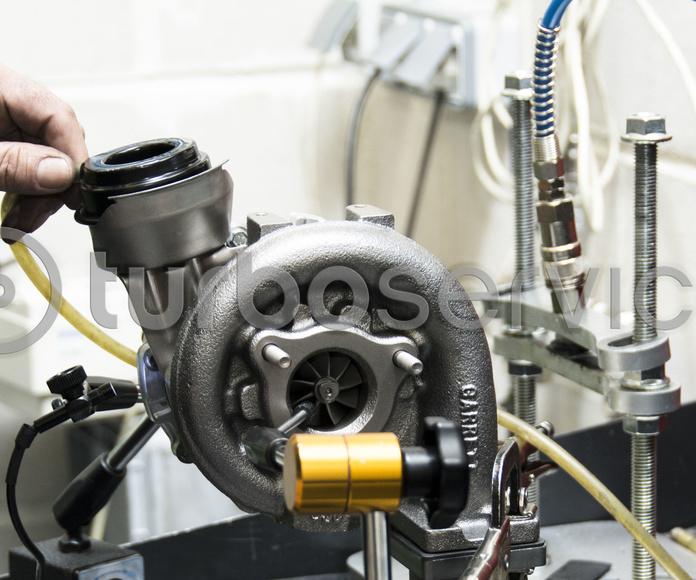 Montaje de un turbocompresor en nuestro taller