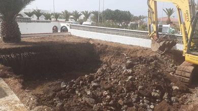 Desmontaje en Playa La Arena