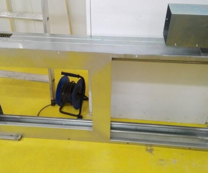Puerta cortafuegos montaje en techo