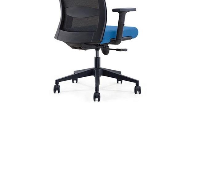 silla ergonomica nova con asiento azul