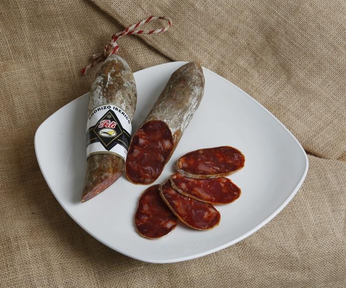 Chorizo Cular Iberico de Bellota Salamanca Pieza de 1,2 Kgs. Marca FILI