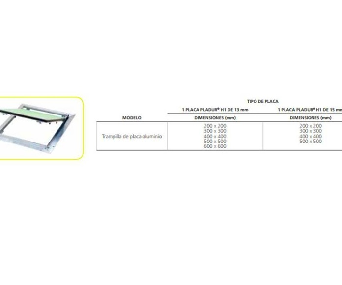 Trampillas Placa-Aluminio: Materiales - Distribuciones de AISLAMIENTOS LORSAN