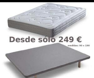 PACK COLCHON OPALO Y BASE TAPIZADA 3D DESDE SOLO 249 €