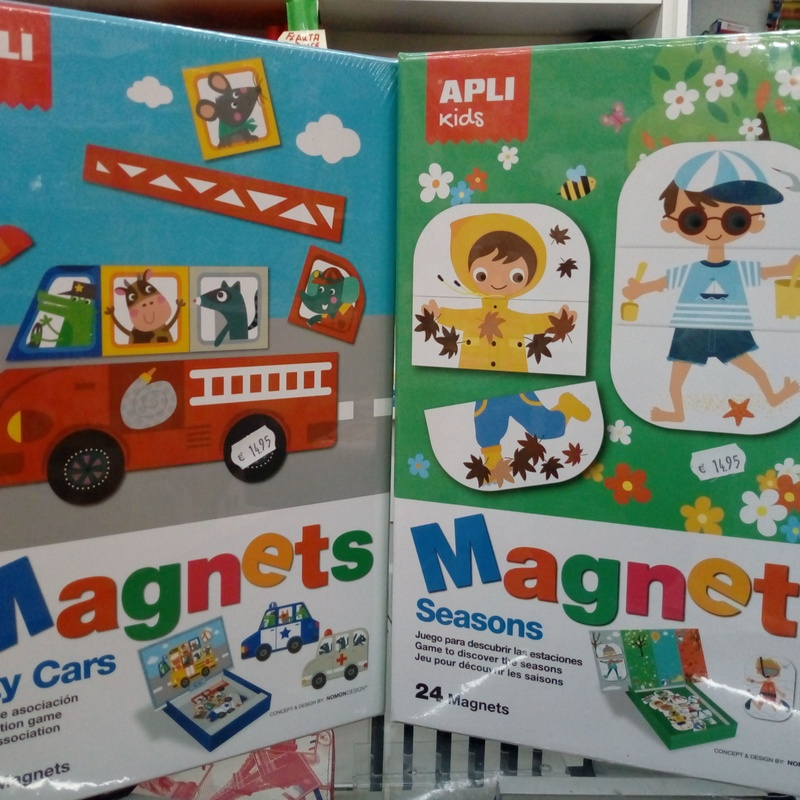 Puzzles magnéticos: City Cars y Seasons