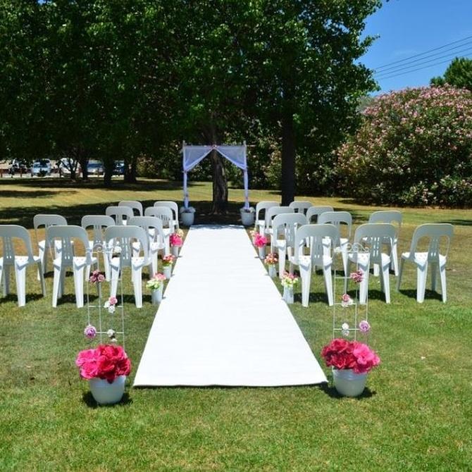 Los aseos portátiles para una boda al aire libre
