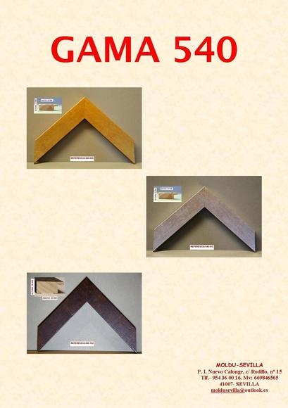 GAMA 540: Muestrario de Moldusevilla