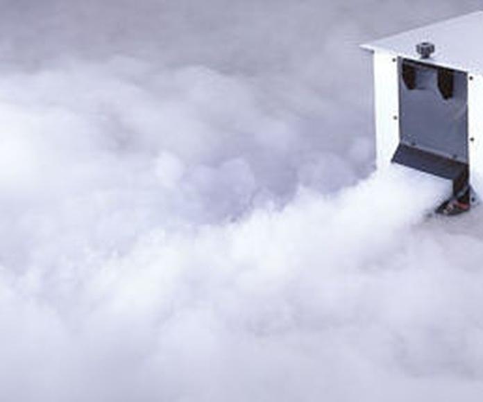 Alquiler maquina de humo bajo en Malaga