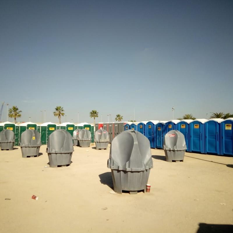 Alquiler y mantenimiento de sanitarios portátiles en playas: Productos  de Boxi Balears