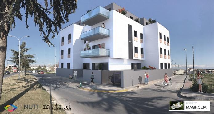 Edificio Magnolia (Albolote): EDIFICIO MAGNOLIA ( ALBOLOTE) de NUTI METROPOLITANO