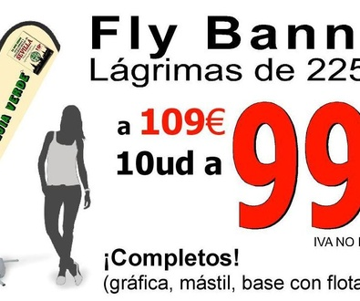 Fly Banner Lágrima Completo