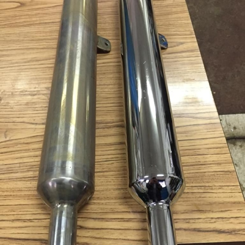 Cromado de tubos escape moto: Servicios de Cromados Jaeván