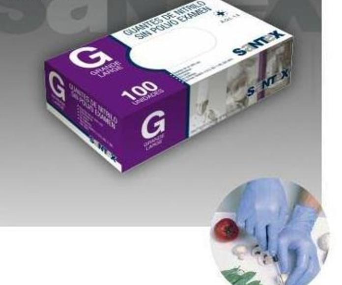 Guantes de nitrilo azul sin polvo.: Productos y servicios de Prieto Larrey