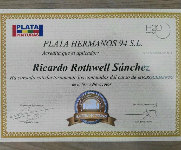 Certificación Microcemento