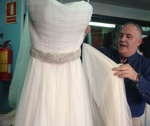 Limpieza de vestidos de novia