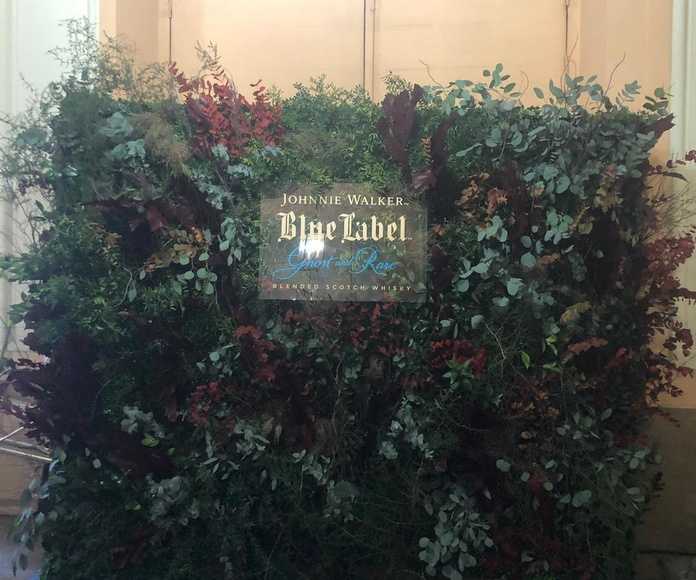 Jardin vertical natural evento Blue Label Johnnie Walker