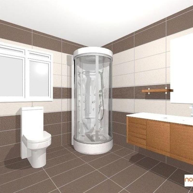 Diseño baño  3d Asturias