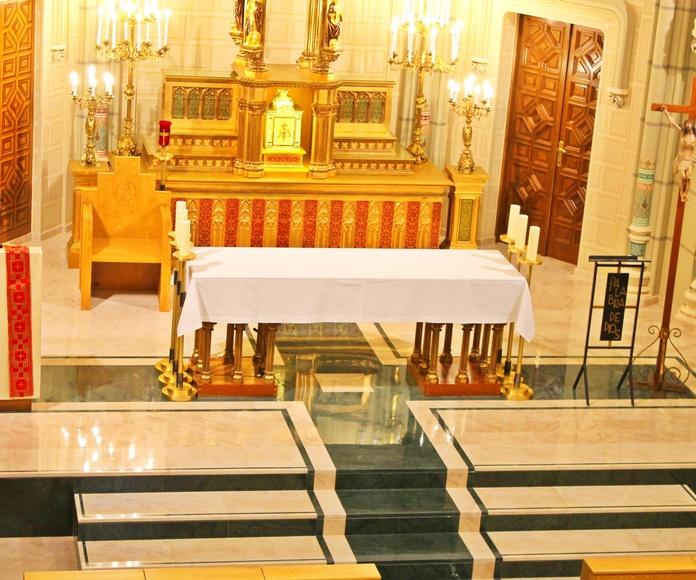 Vista Altar y Peldaños