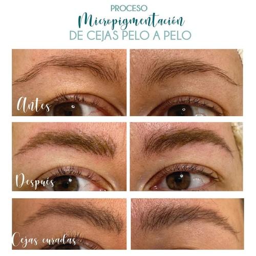 Proceso-Micropigmentación de cejas Pelo a Pelo