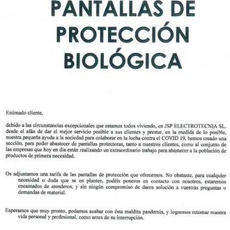 Articulos de proteción contra el COVID 19