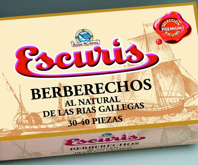 Berberechos de Ría Gallega 30-40 1/4 Oval Marca ESCURIS