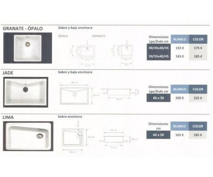 Fregaderos: Materiales de construcción de F. Campanero Materiales Construcción, S.L.