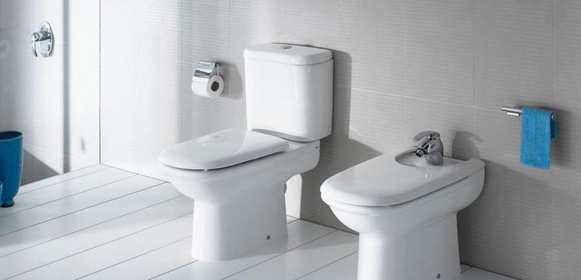 Baño de diseño en Fuenlabrada con sanitarios del distribuidor Roca