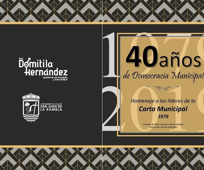 Tertulia Alcaldes del norte de Tenerife en las primeras elecciones democráticas de 1979
