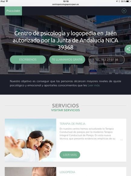 Nueva web de PsicoJaén