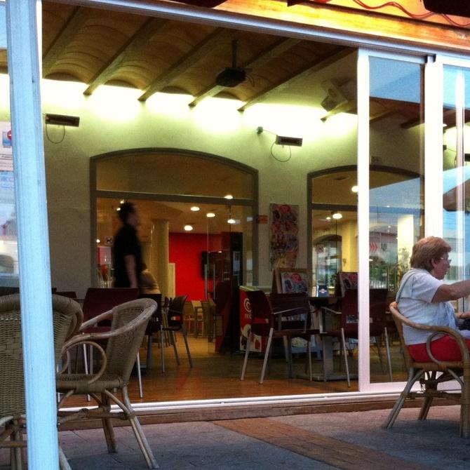 Cortinas de cristal en restaurantes
