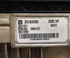 ECU engine control unit of a Chevrolet Cruze