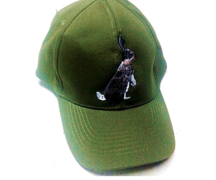 Visera motivo caza 8, bordado conejo, cierre velcro: Tienda online de Artículos de Caza