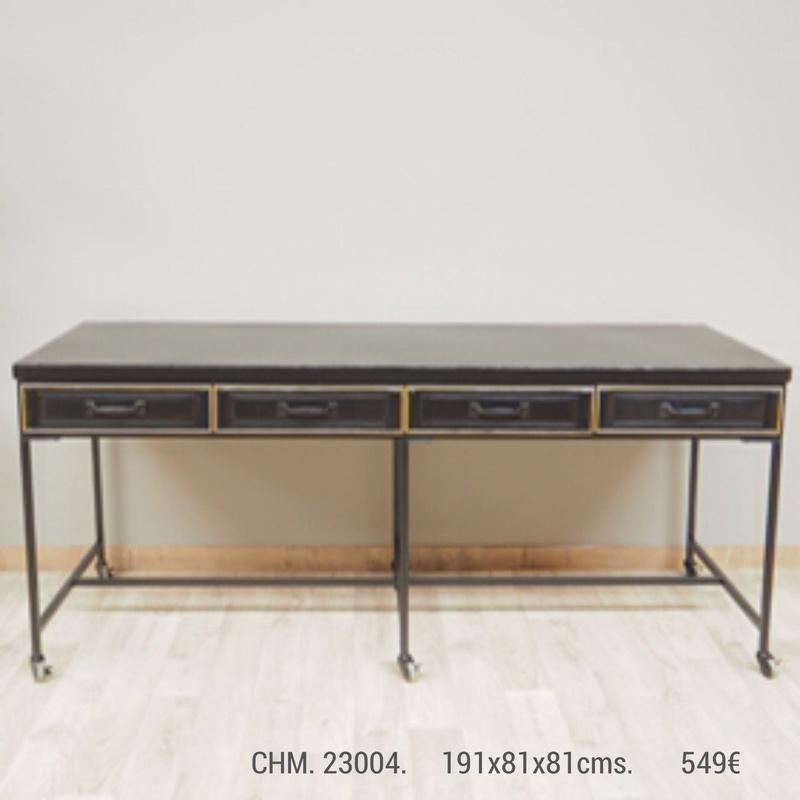 Mesa Comedor CHM 23004 hierro industrial: Catálogo de Ste Odile Decoración