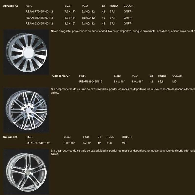 Llantas audi: Neumáticos Primeras Marcas  de Big Sur Neumáticos