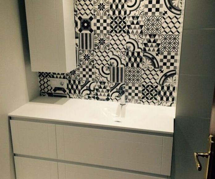 Mueble de baño laca blanco mate