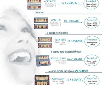 Oferta 10+2 dientes de resina.
