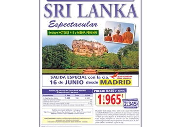 Super oferta Sri Lanka. Junio 2020