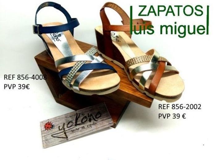 tiras cruzadas en metalizado yokono: Catalogo de productos de Zapatos Luis Miguel