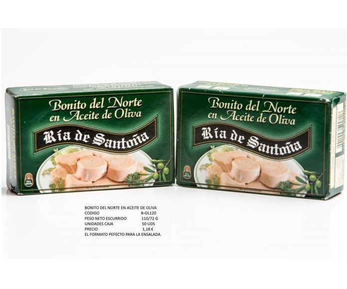 Bonito del Norte en aceite de oliva marca Ría de Santoña: Productos de Conservas Artesanas María Eugenia
